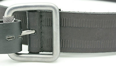 John Varvatos Star USA Men 38mm Buffalo Leather Belt w Track Detail 36 Black NWT