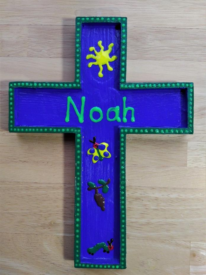 Personalized Kid's Cross Wall Hanging