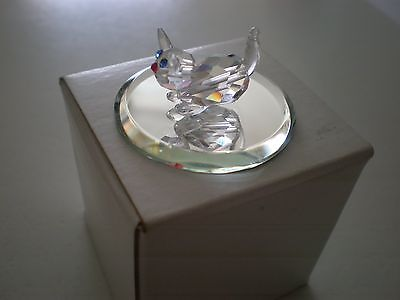 Kitten-Austrian Lead Crystal Figure By Mobex - (New with Box)