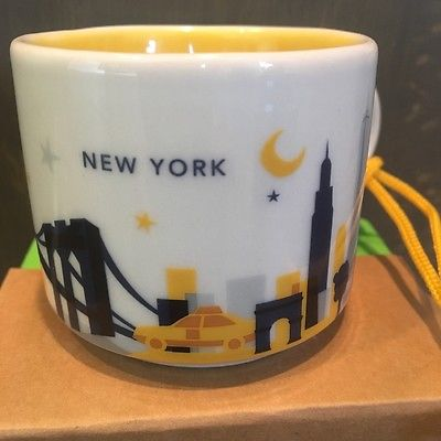 Starbucks City Mug Ornament, «NEW YORK», You Are Here, Collection, 2oz.