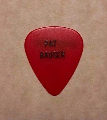 Pat Badger Extreme red signature guitar pick ~ 1st album tour