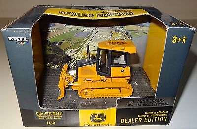 NEW ERTL 1/50 60th ANNIVERSARY JOHN DEERE 650J LT DEALER EDITION DIECAST DOZER