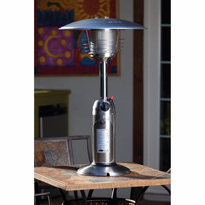 Fire Sense Stainless Steel Table Top Portable Patio Heater Outdoor Warmer