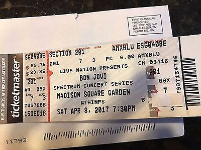 2 Tickets to  Bon Jovi  tickets Live Madison Square Garden April 8th 2017