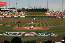 2 AISLE Box seats behind home plate for Cubs vs. Mariners on 3/9/17 Sloan Park