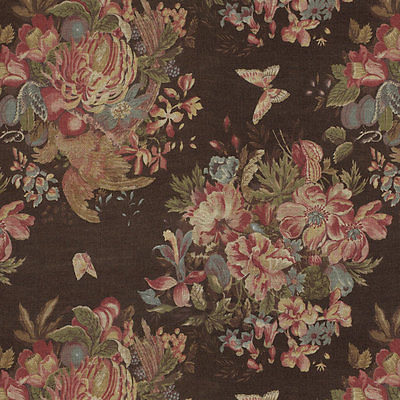 RALPH LAUREN HOME Bannerman Floral 100% Linen Fabric BTY Upholstery Furnishings