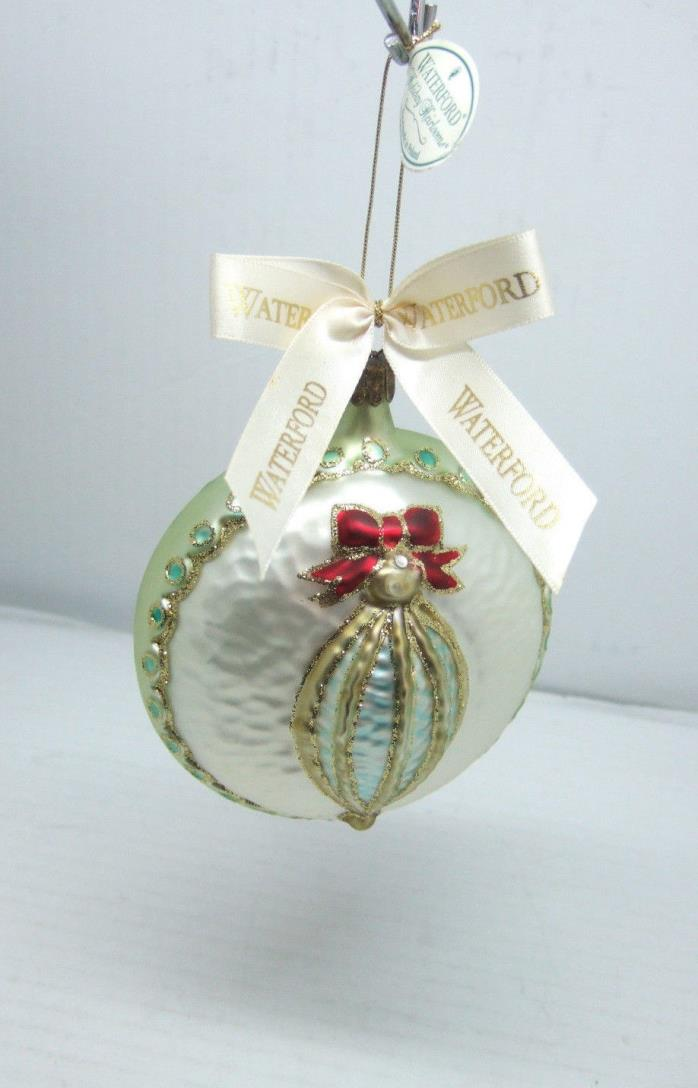 Waterford Holiday Heirloom Ornament Crystal Cone Medallion Glass Ornament Poland