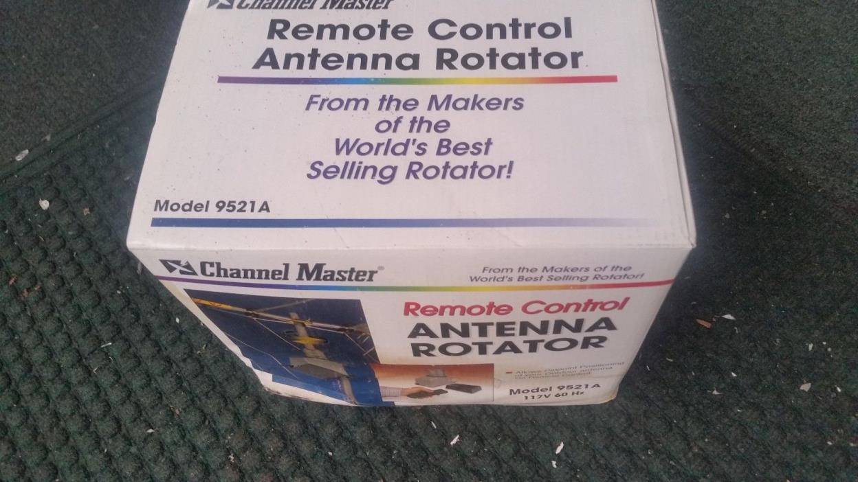 Channel Master 9521A Antenna Rotator & 50' Rotor Wire - TV HAM CB WIFI Rotor