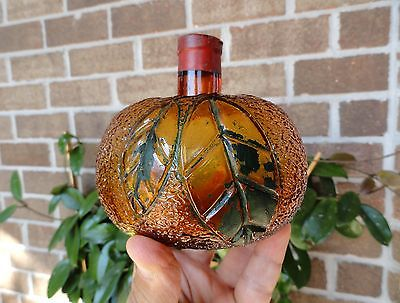 BARDINET BORDEAUX Orange Shaped BLOWN Figural LIQUOR DECANTER Bottle