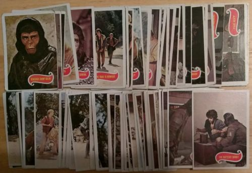 (1) 1974 TOPPS PLANET OF THE APES SET -2 CARDS  64/66