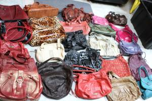 Large Lot of Leather Handbags-Qty 155 (Mercerville)