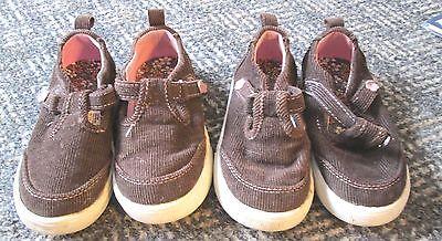 2 Pair Garanimals Brown Sandals - Size 6 Toddler - Twins? - Free Shipping