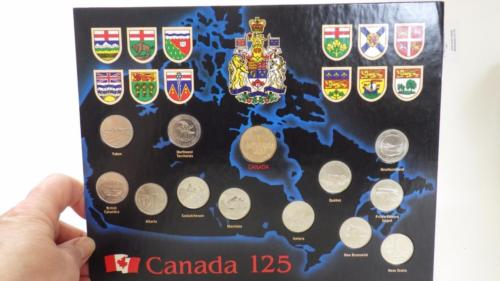 1992 MINT 12 Coin Set 'CANADA 125' 11xquarters 1x $1