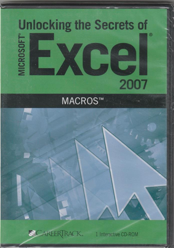 Unlocking the Secrets of Microsoft Excel 2007 Macros, CAREER TRACK, sealed