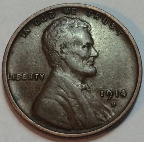 1914D Lincoln Cent Key Date High Grade Beautiful Coin