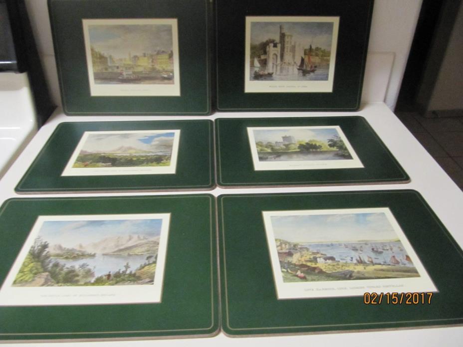 6 Vintage Pimpernel Placemats --- Irish Heritage Series --- County Cork