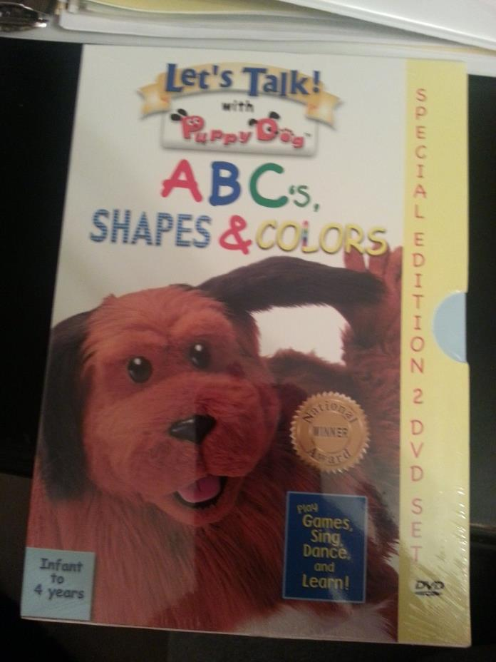 Let's Talk! with Puppy Dog A B C's Shapes & Colors - Special Edition DVD Set NIP