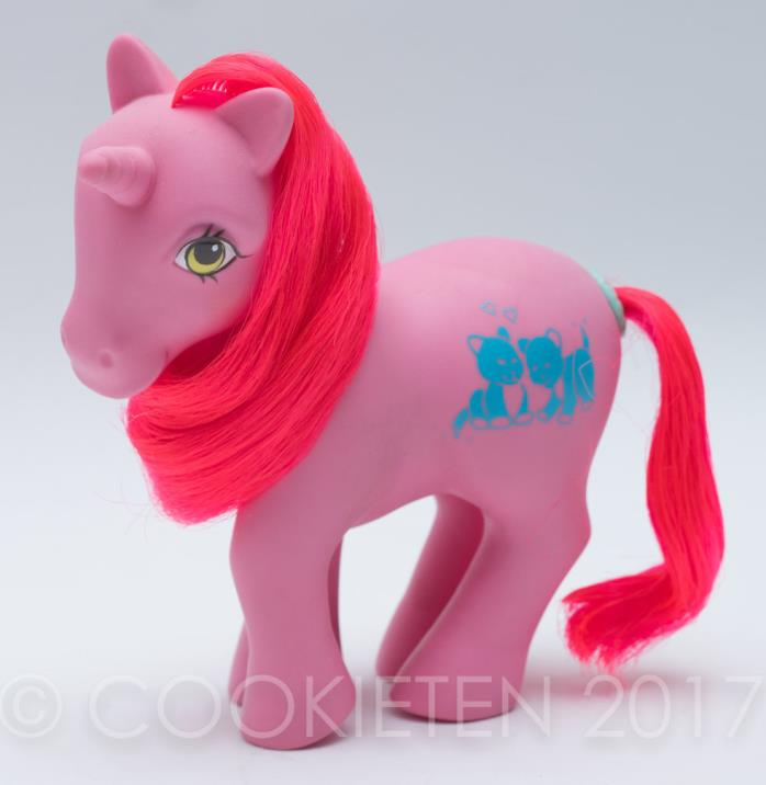 My Little Pony Vintage G1 Unicorn Happy Tails Tabby
