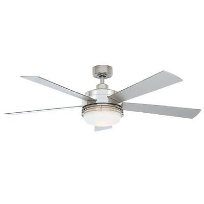 Hampton Bay Sussex II 52 in. Brushed Nickel Ceiling Fan with Light