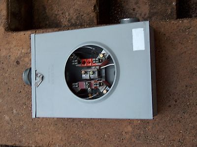 Milbank 200 amp single phase Electrical meter box
