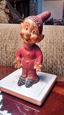 Vintage 1930s Rubber Walt Disney Dopey Figurine by the Seiberling Rubber Co.