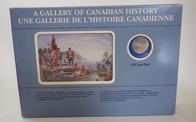 MINT 12 Coin Set Gallery of Canadian History Cards 1 Quarter per Province