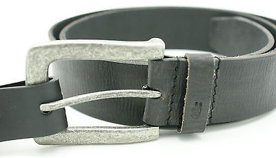 John Varvatos Star USA Men 38mm Buffalo Leather Belt Antique Buckle 38 Black NWT
