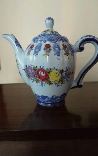 Vintage Hand Painted Teapot