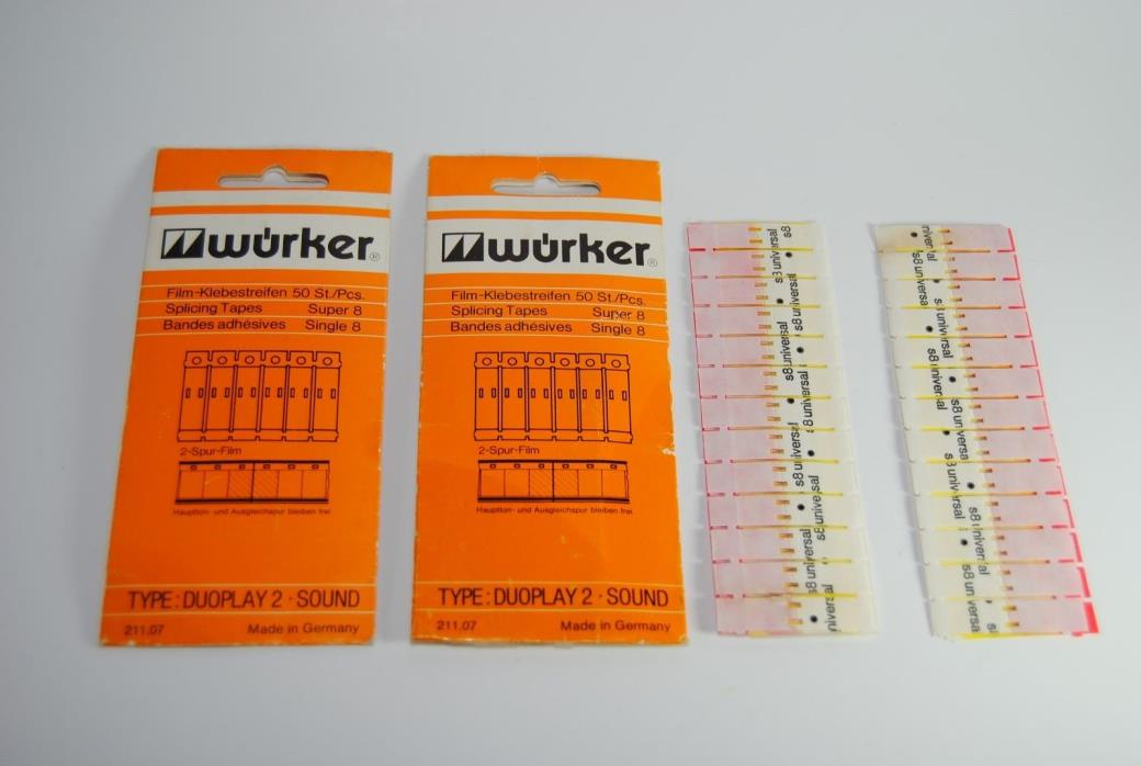 Wurker splicer Tape for Super 8 - Made in germany