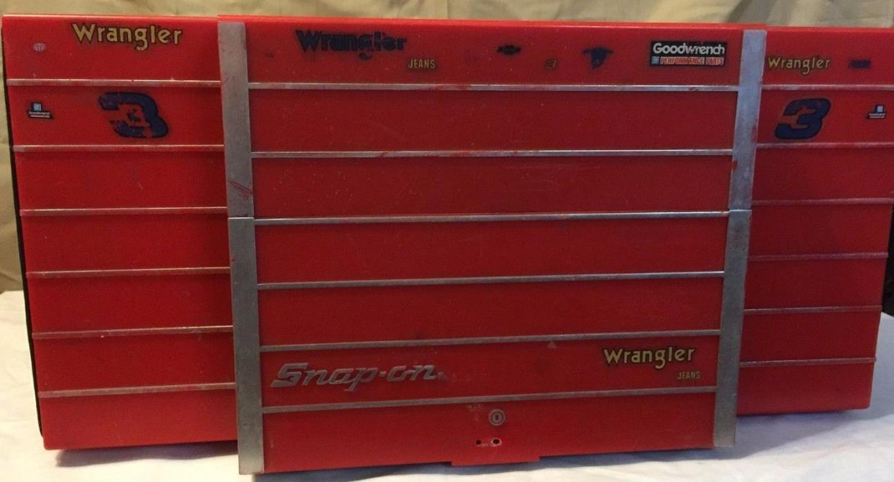 RARE! NASCAR Snap On Promotional Boom Box (#3 Dale Earnhardt stickers added)