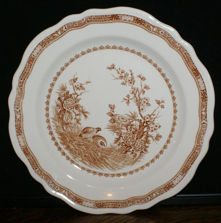 Mason's Ironstone Brown Quail Pattern * One Round Chop Plate or Salver * 12 1/4