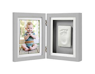 Pearhead Babyprints Handprint of Footprint Desk Frame, Grey FREE SHIPPING!