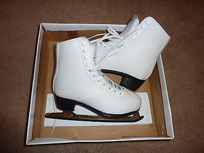 American Athletic Girls Womens Figure Ice Skates Ice Skating Shoes SIZE 5 White