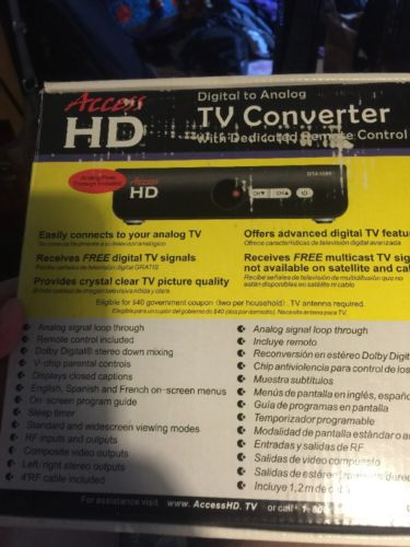 Digital Stream DTX9950 Digital to Analog Television TV Converter New in Box