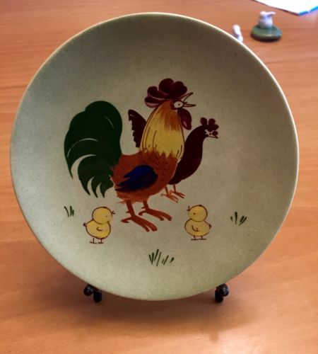 2017 Year Of Rooster - Hand-painted Decora California Plate
