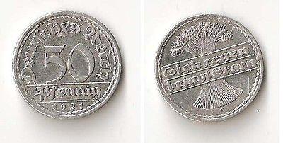 GERMANY 50 pfennig 1921 F High grade!!!