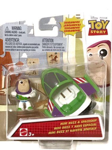 ~ Disney Pixar TOY STORY  ~ Mini BUZZ & SPACESHIP 1