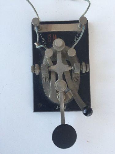Vintage J-38 Morse Code Telegraph Key US ARMY SIGNAL CORPS HAM Radio