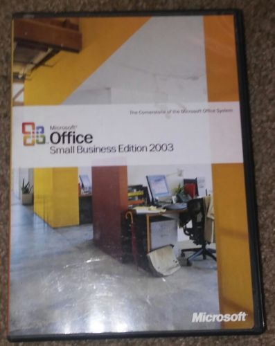 MICROSOFT OFFICE SMALL BUSINESS EDITION 2003 with PRODUCT KEY 2-disks