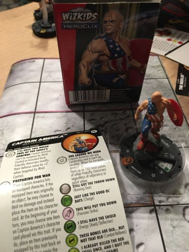 HEROCLIX Earth X Captain America  MP17-004 Convention Exclusive 2017. New Unused