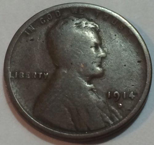 1914D Lincoln Cent Key Date Problem Free Affordable