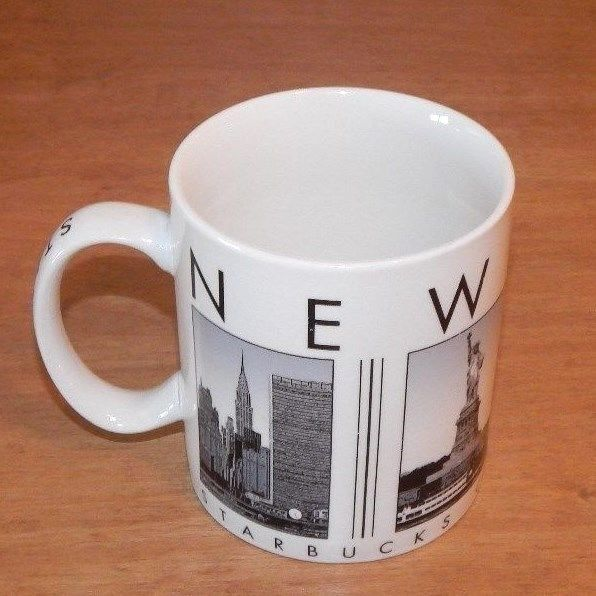 2003 Starbucks Coffee NEW YORK MUG 19oz ~ CITY SCENES