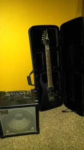 Ibanez RGT 42DXFX Guitar and Amp (Clovis)