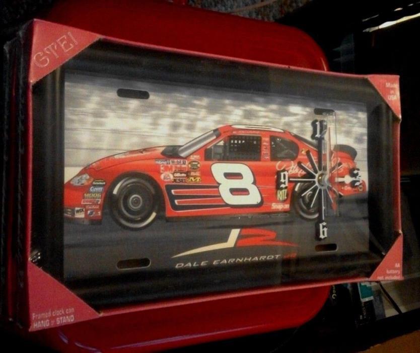 NASCAR- DALE EARNHARDT JR LICENCE PLATE CLOCK