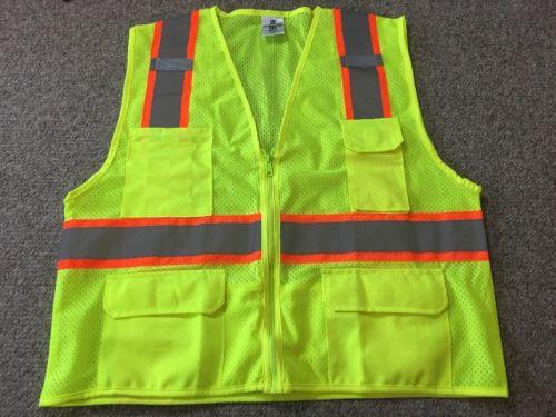 ML Kishigo Safety Vest Mesh Vest Construction  Lime Outdoor XL X-Large