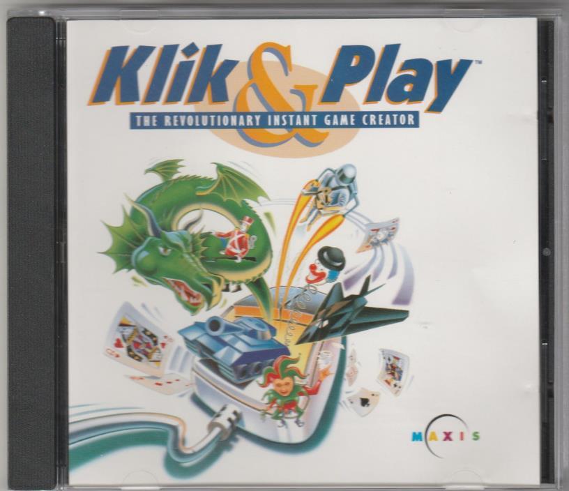 Klik & Play:Revolutionary Instant Game Creator PC 1994 build own vid. games tool