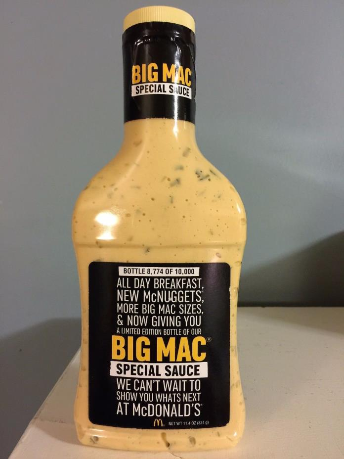 McDonald's Big Mac Special Sauce Limited Edition # 8774