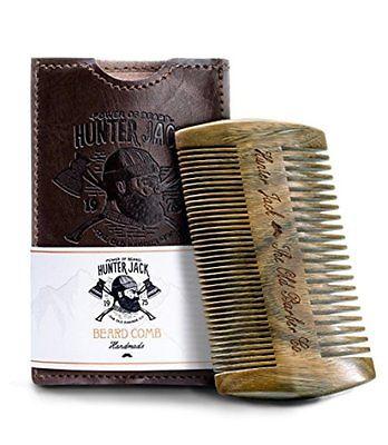 Beard Comb Kit for Men - Great for Head Hair, Beard Mustache - Handmade Premium