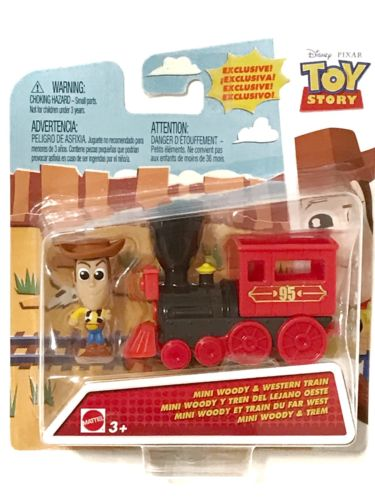 ~ Disney Pixar TOY STORY  ~ Mini WOODY & WESTERN TRAIN 1