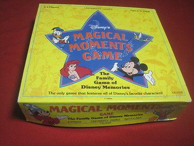 The Family Game of Disney Memories Disneys Magical Moments Game University Games